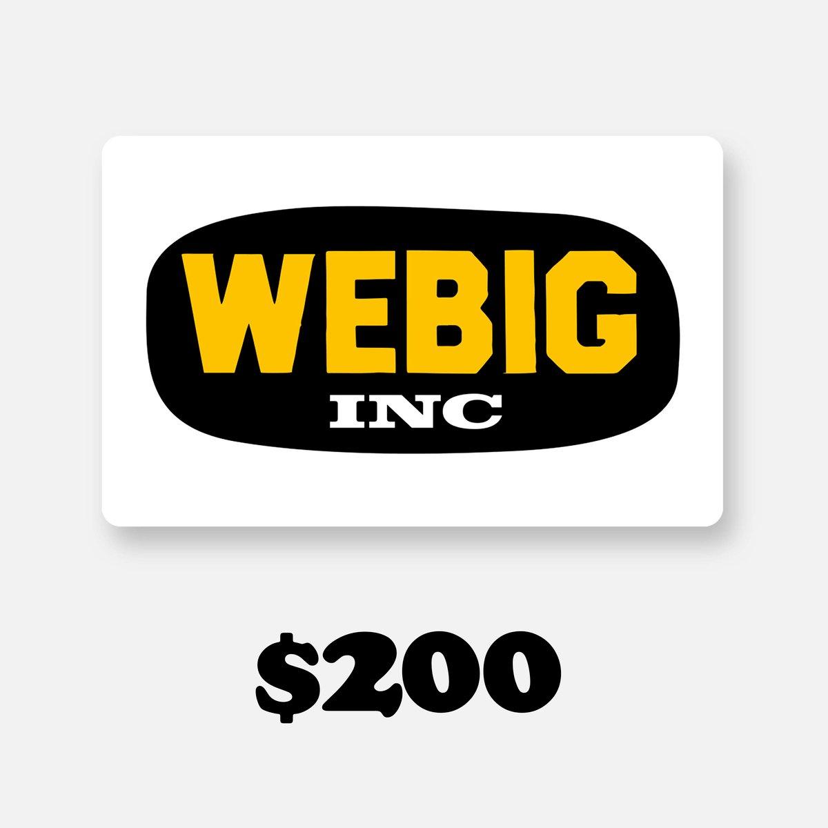 Image of WEBIG GIFT CARD $200