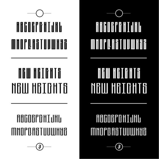Image of New Heights Font