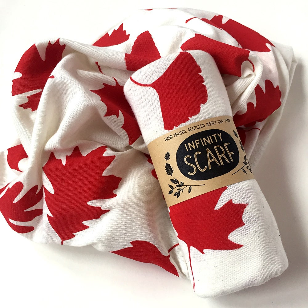 Image of Cream Autumn Leaves Scarf