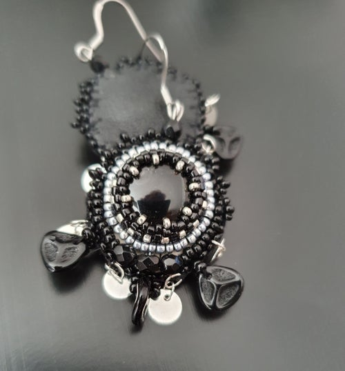 Image of Boucles d'oreilles SO CUTE IN BLACK