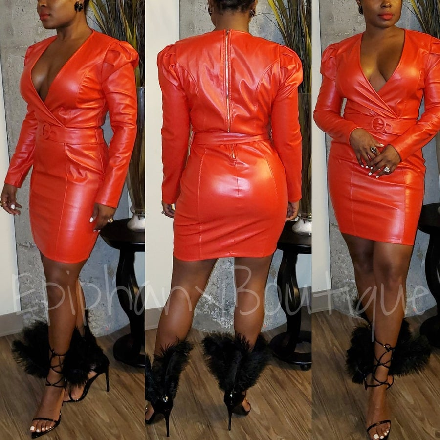 Image of The Ms. Jackson Leather Dress