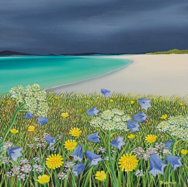 Image of Clachan sands machair giclee print
