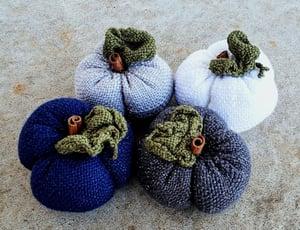 Image of Winter Pumpkin, Scented, Soft Sculpture, Handwoven, Large