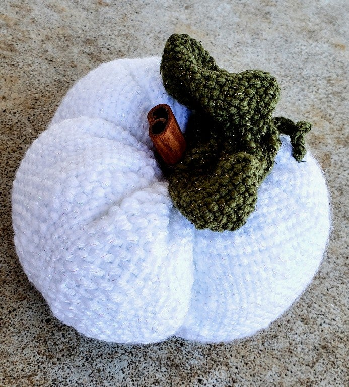 Image of Winter Pumpkin, Scented, Soft Sculpture, Handwoven, Large