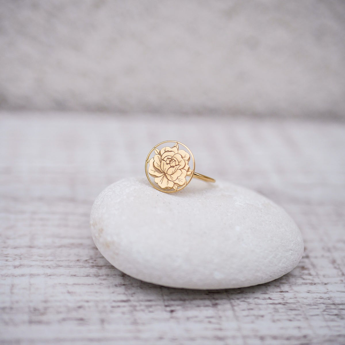 Image of Bague PEONIE IN LOVE Or/Argent
