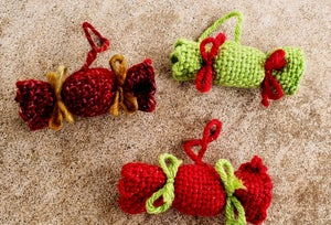 Image of Xmas Candy Ornament, handwoven