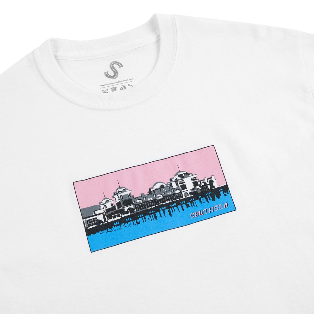 Image of SOUTHSEA PIER T SHIRT - WHITE