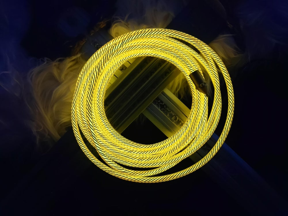 Image of Glowing Wonder Woman Lasso of Truth, Magic Lasso, Lasso of Hestia, Glowing Whip for cosplay