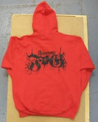 Image of FUNERAL FOG LOGO HOODIE - BLOOD RED