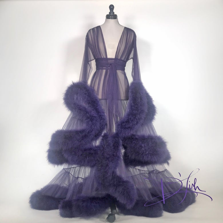 "Image of Deep Purple ""Cassandra"" Dressing Gown"