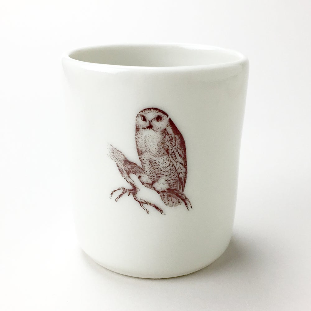 Image of 10oz tumbler with owl, ivory