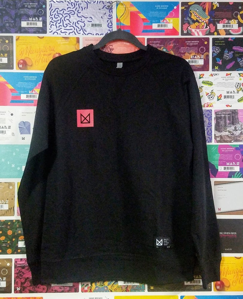 Image of Black and Pink Longsleeve Marz Shirt