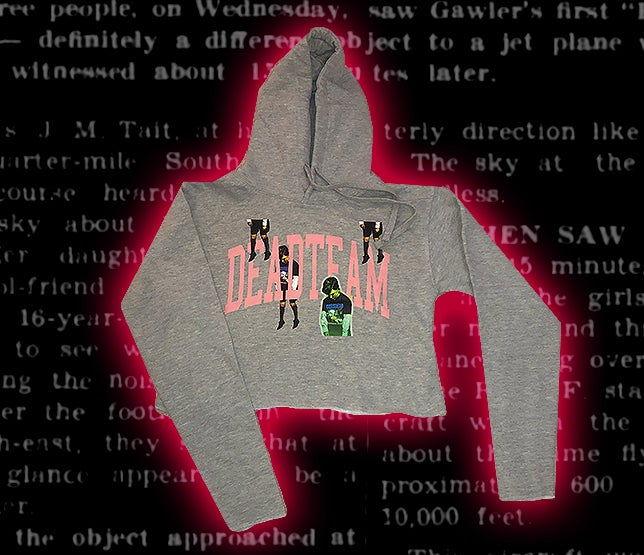 Image of ABDUCTION CROP HOODIE [GREY]