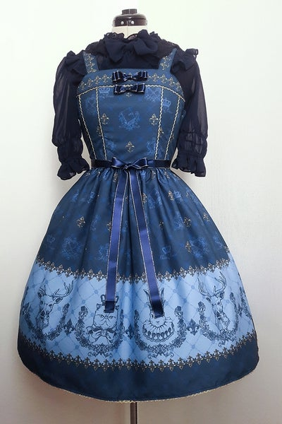 Image of Unfriendly Cat And Her Royal Court Dress  -Blue x Gold