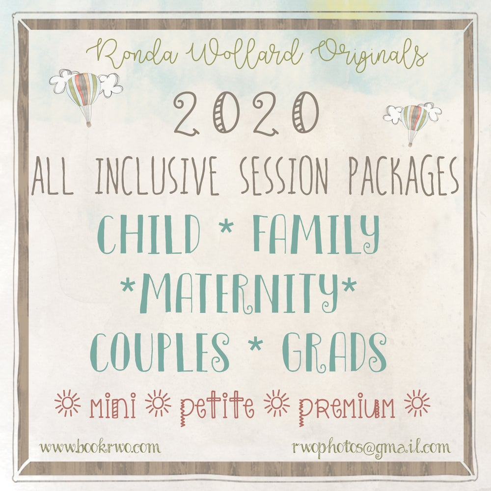 Image of 2020 All-Inclusive Session Packages