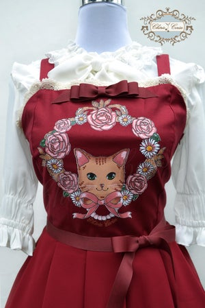 Image of Classic Kitty Dress - Wine Red