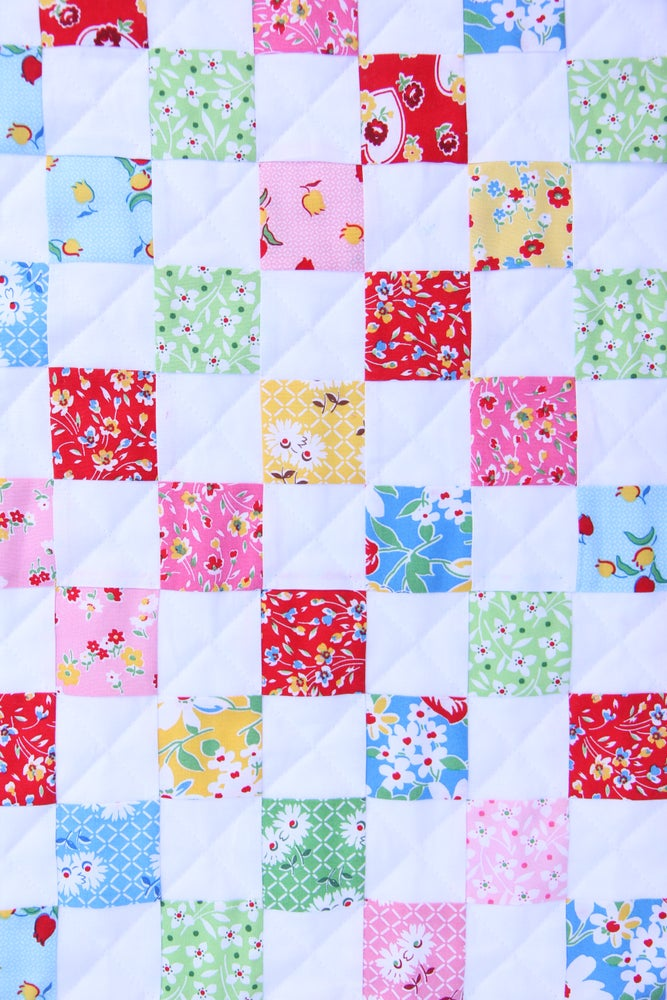 Image of Sugar Sack Baby Quilt & Cuddle Blankie