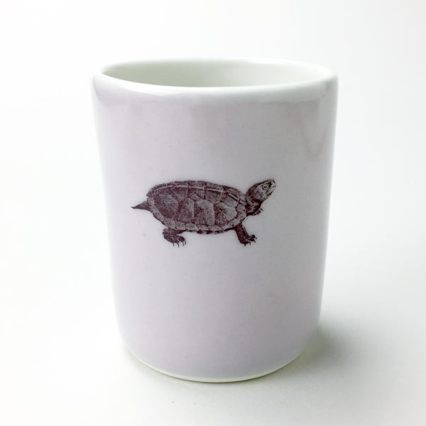 Image of 10oz tumbler with turtle, lilac