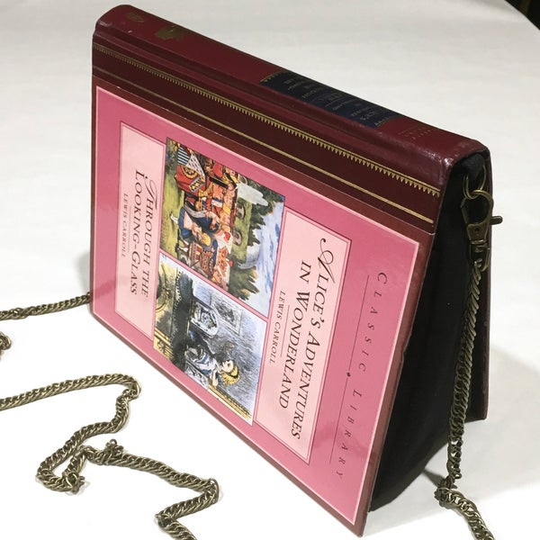 Image of Alice in Wonderland Book Purse