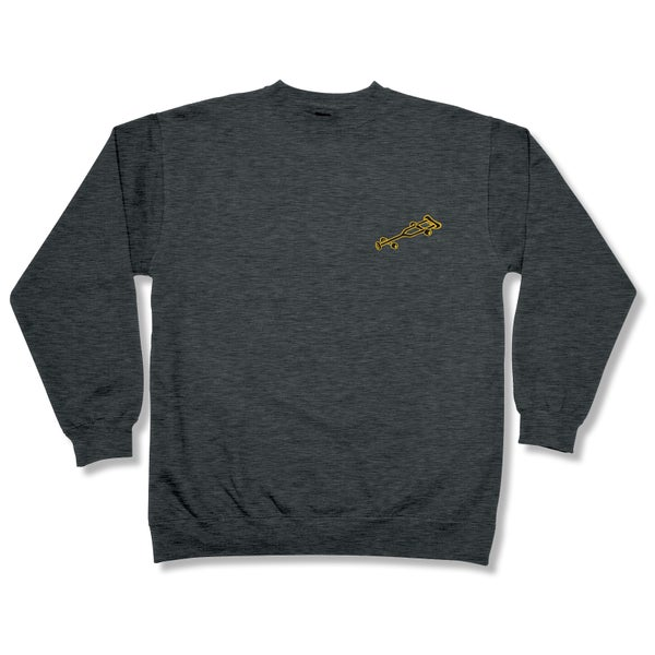 "Image of ""OG Crutch"" Embroidered Crewneck Sweatshirt"
