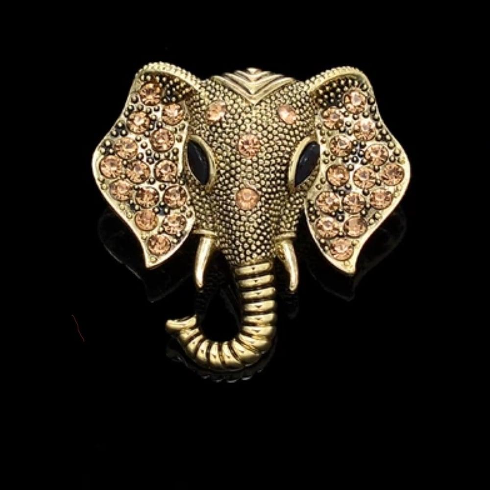 Image of ELEPHANT BROOCH