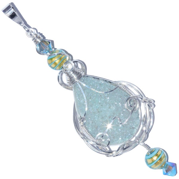Image of Pastel Blue Fairy Aura Drusy Pendant