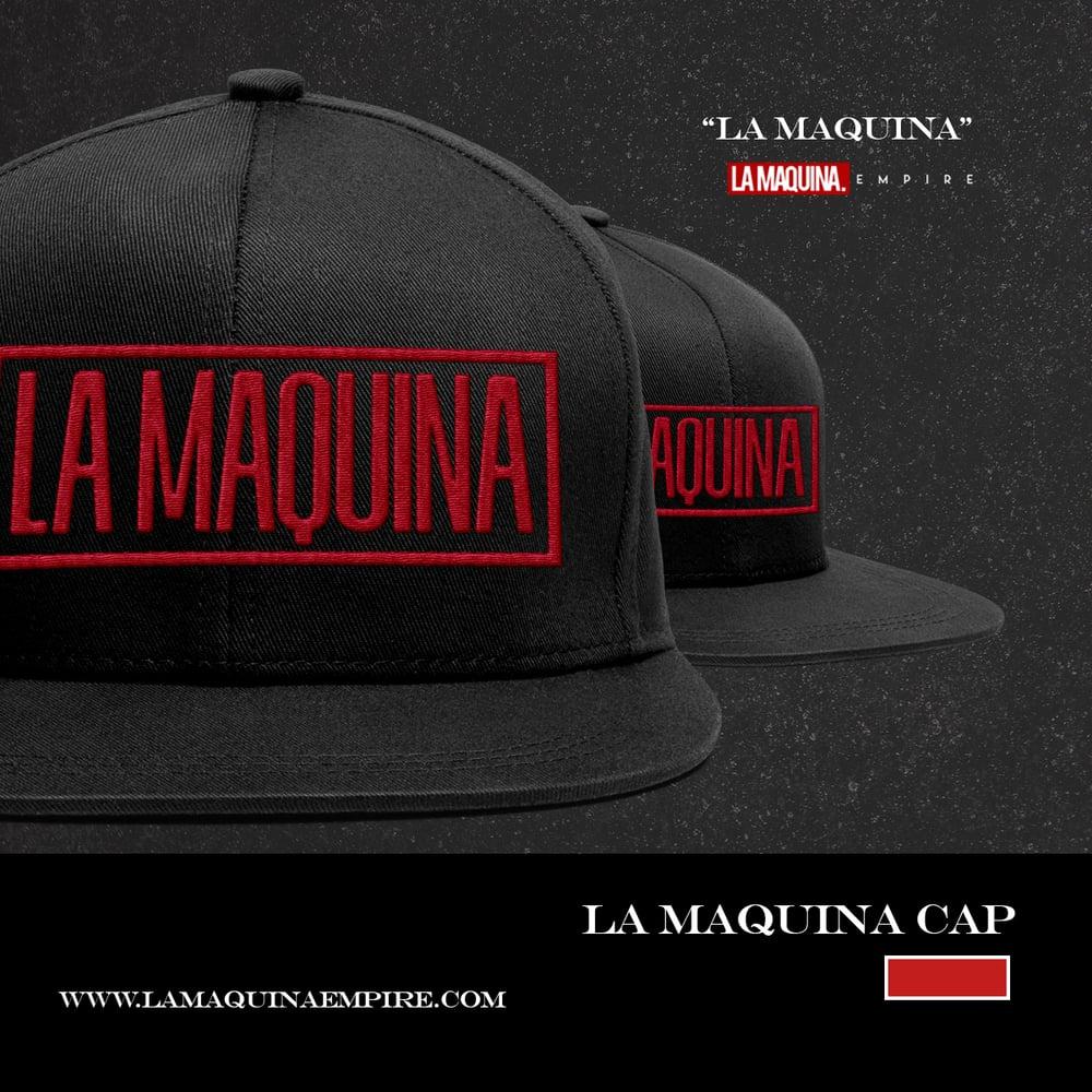 "Image of ""LaMaquina"" Snapback (Black/Red)"