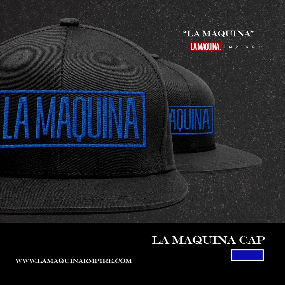 """Image of """"LaMaquina"""" Snapback (Black/Blue)"""