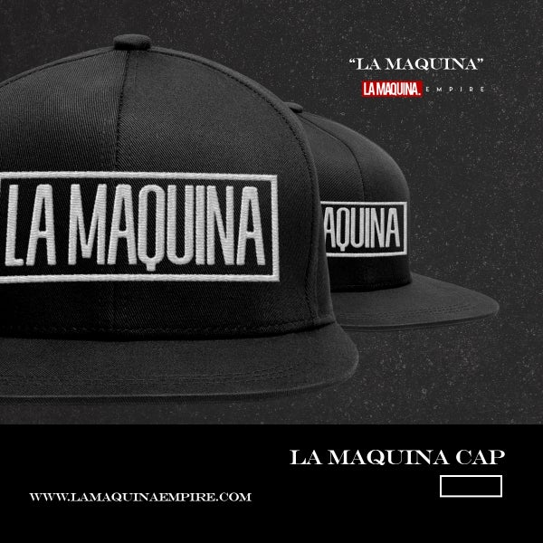 "Image of ""LaMaquina"" Snapback (Black/White)"