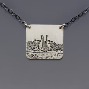 Image of Sterling Silver Purdue Engineering Fountain Necklace