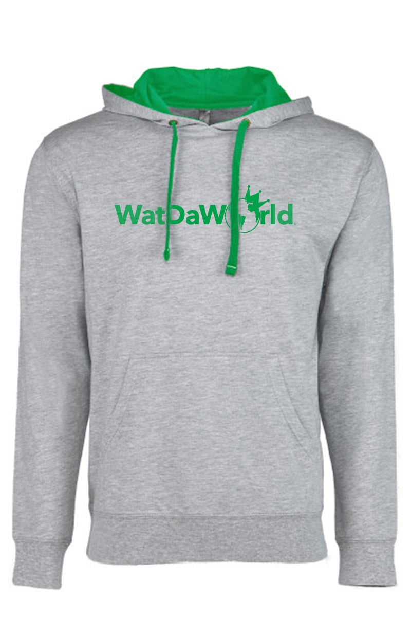 Image of Logo Hoodie Grey/Green