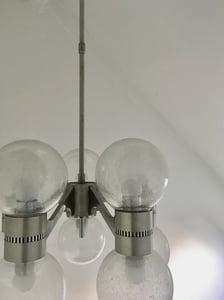 Image of 10 Light Pulegoso Glass Chandelier