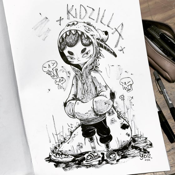 Image of Kidzilla Original Drawing