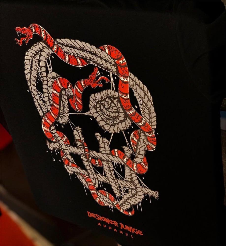 Image of Designer Snake Tee ( Black ) Long Sleeve