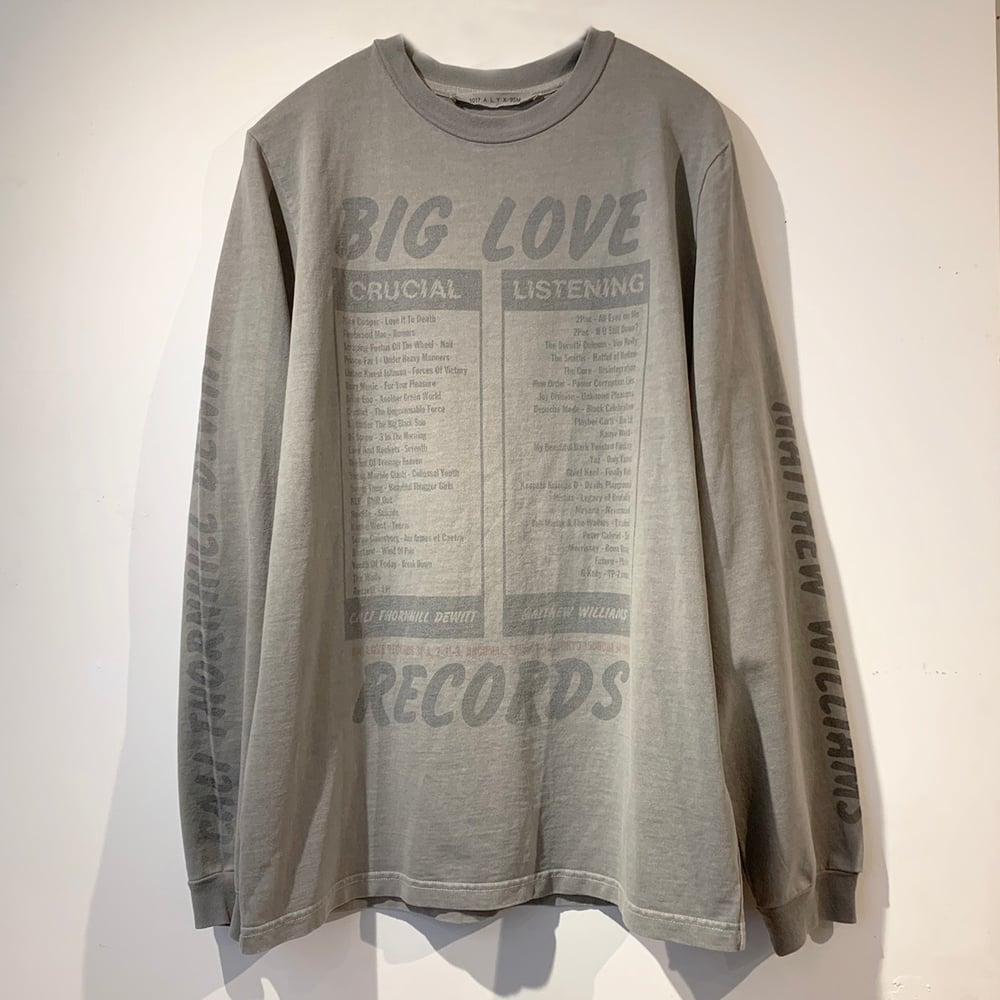 Image of BIG LOVE RECORDS X 1017 ALYX 9SM MATTHEW WILLIAMS X CALI DEWITT