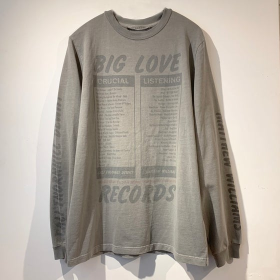 Image of ALYX 9SM LONG TEE  x BIG LOVE RECORDS