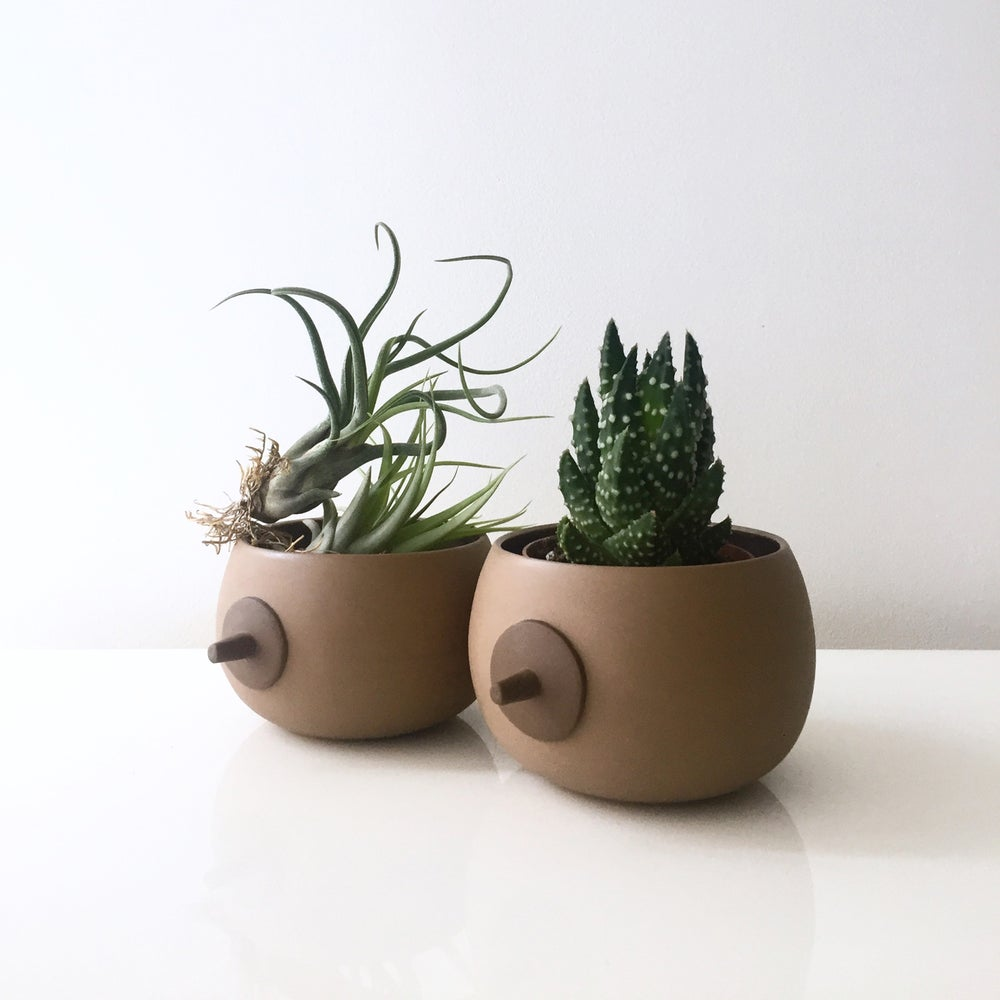 Image of BROWN BOOB PLANTER