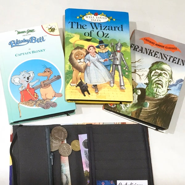 Image of Wizard of Oz, Blinky Bill, Frankenstein Book Wallets