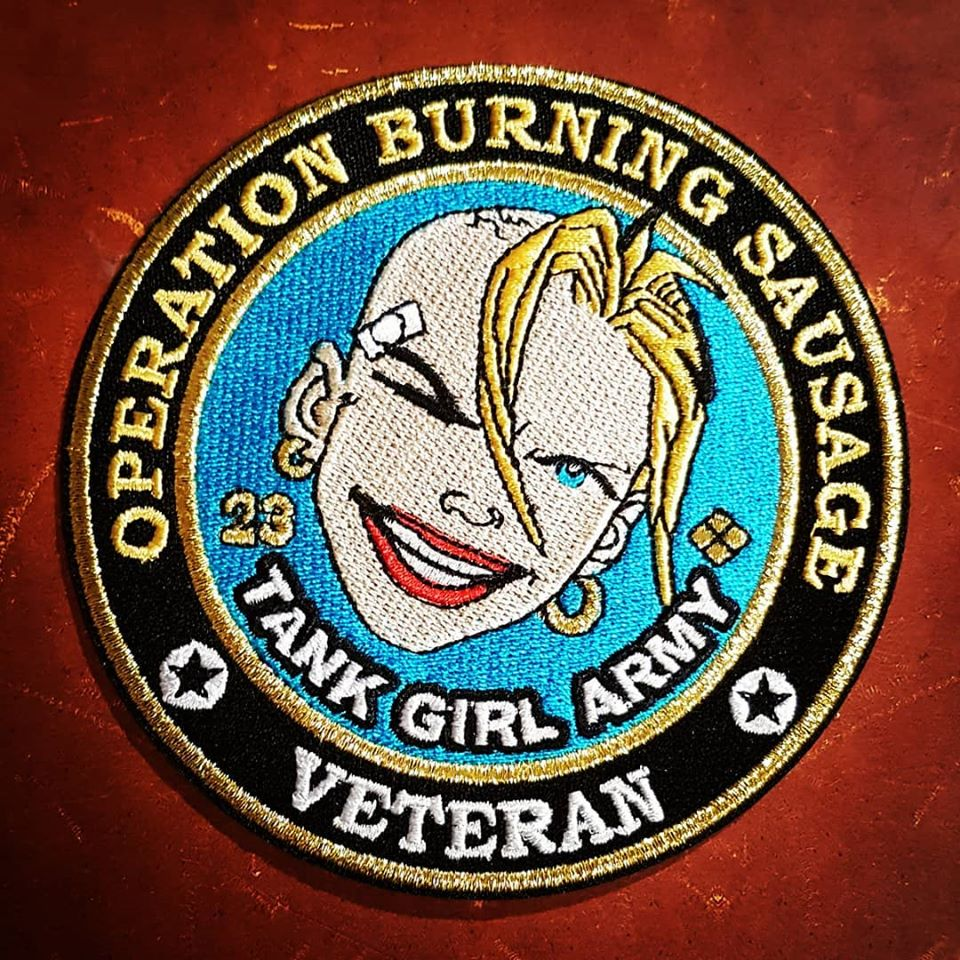 "Image of ""Operation Burning Sausage"" Large Sew-On Patch - with print!"