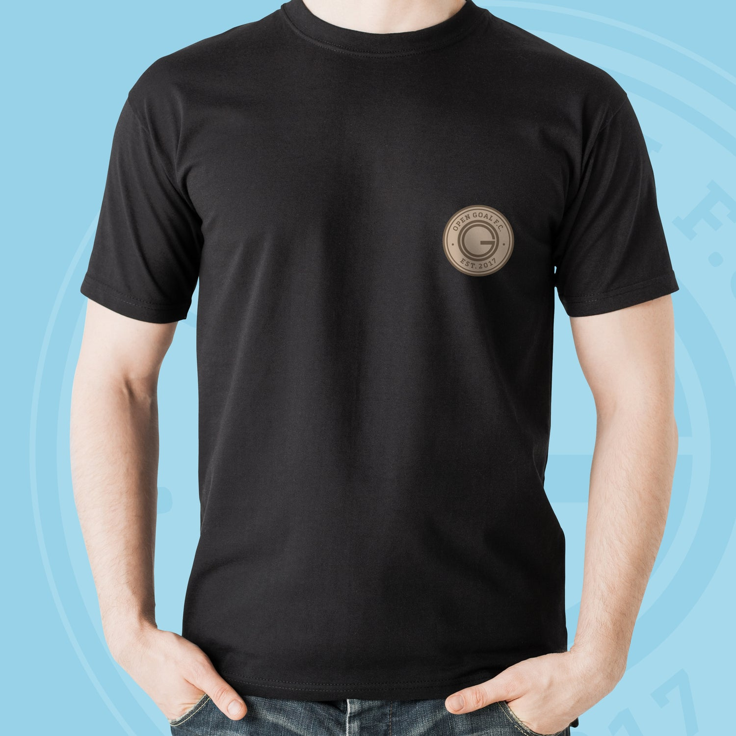 Image of Open Goal FC Tshirt (Black)