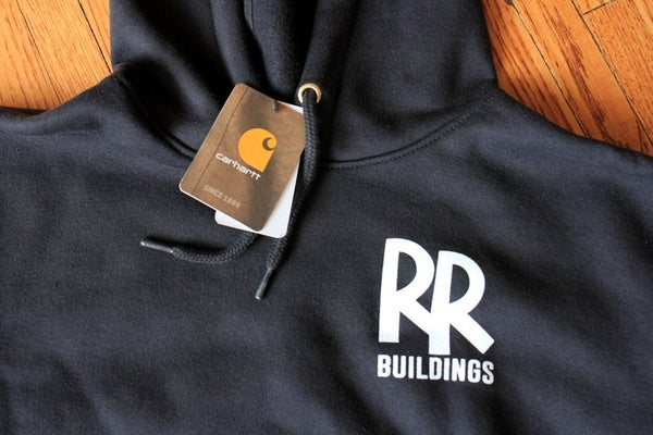 Image of Carhartt Hooded Pull Over - RR Buildings Sweatshirt