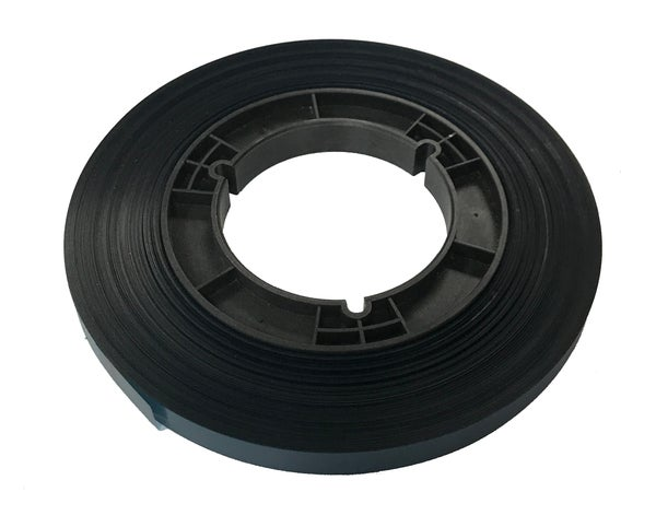 "Image of 1500' Blue Teal 1/2"" Poly Leader Tape on Hub"