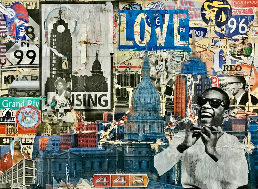 Image of LOVE LANSING original artwork
