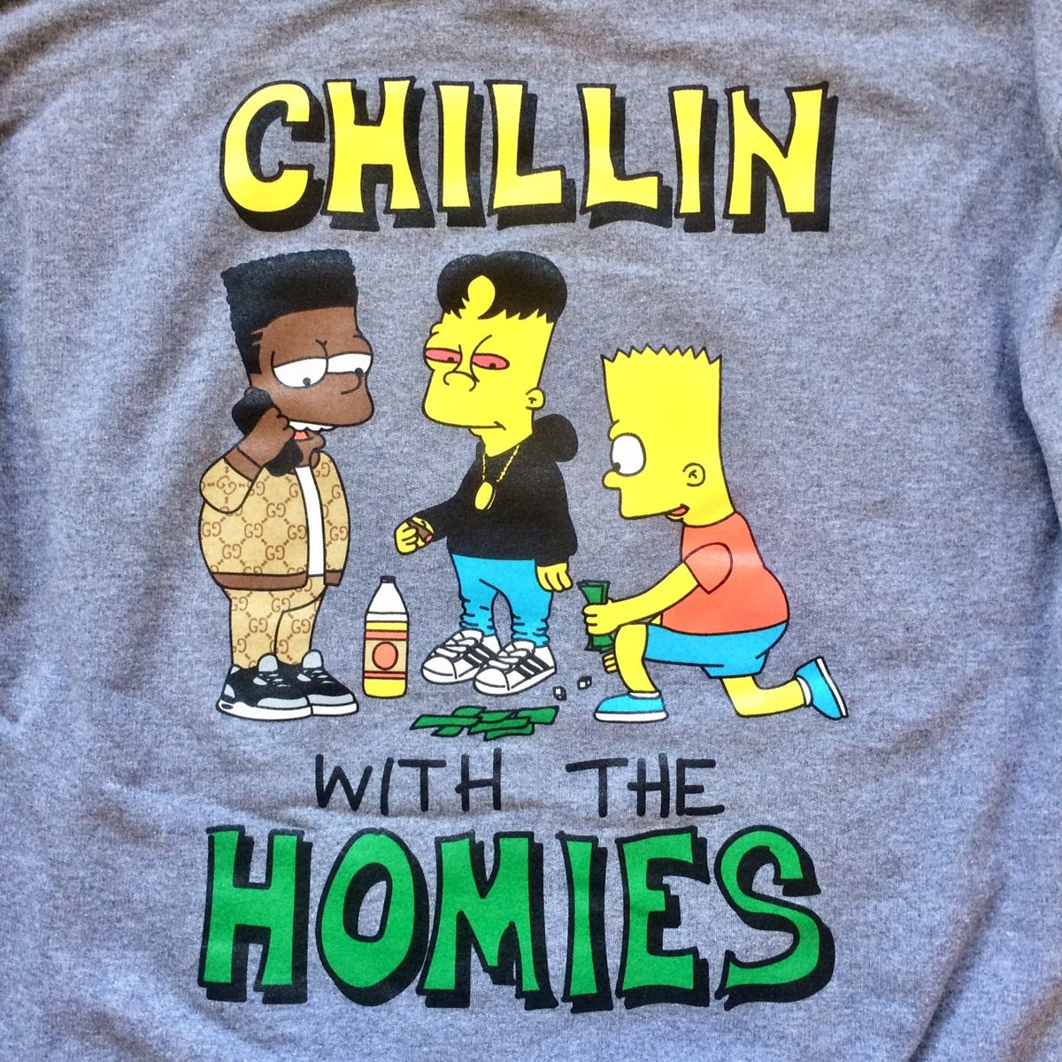Image of BOOTLEG BART CHILLIN WITH THE HOMIES HOODIE