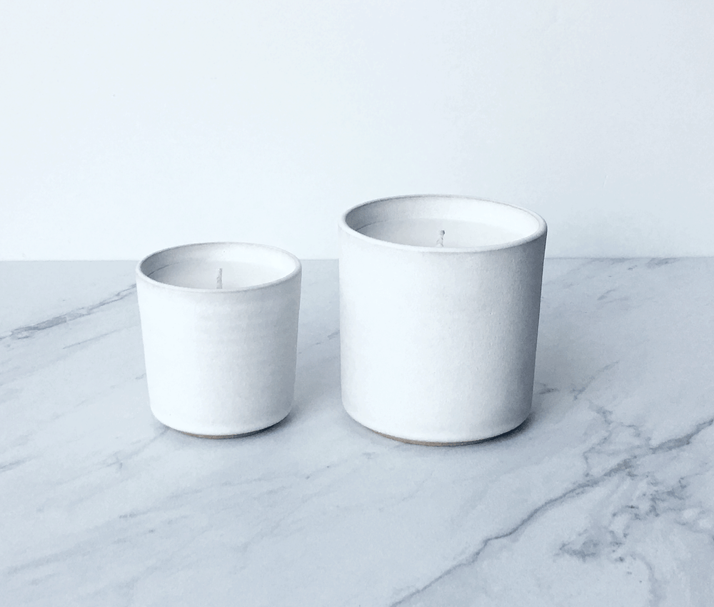 Image of CASHMERE, coconut wax scented candle in ceramic cup
