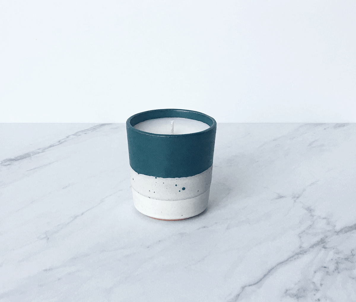 Image of CEDAR + MOSS, coconut wax scented candle in ceramic cup
