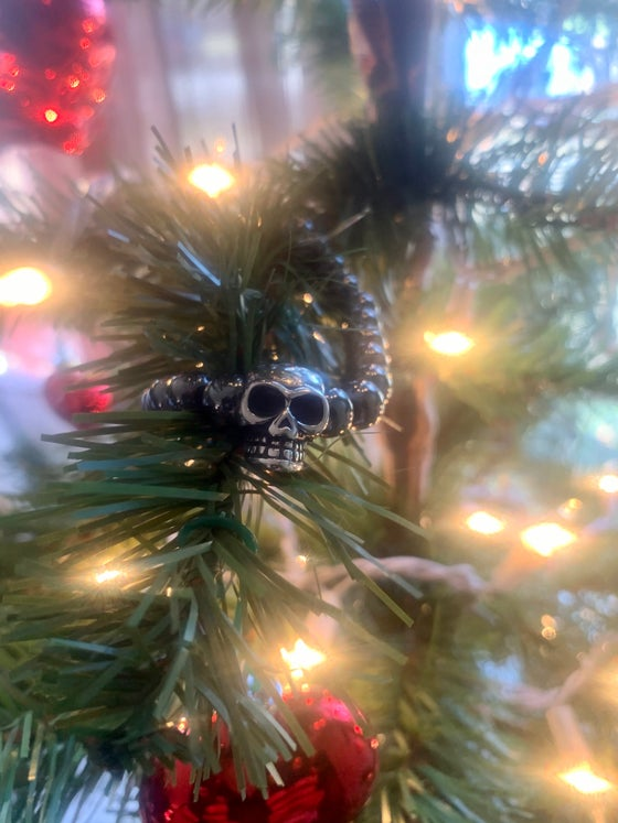 Image of Hematite Skull Bracelet