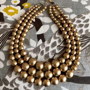 Image of Gold Wood Necklace