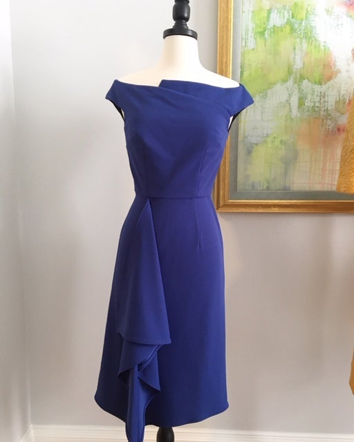 Image of Late 1950's Inspired Blue Waisted Dress