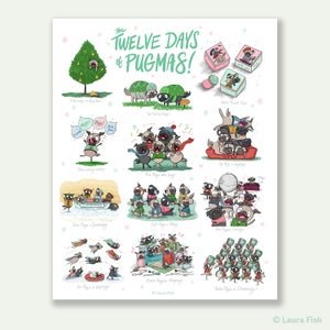 Image of 12 Days of Pugmas Prints!
